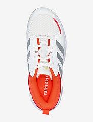 adidas Performance - Ligra 7 Indoor  W - indendørs sportssko - ftwwht/aciyel/solred - 3