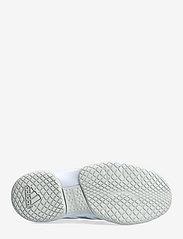adidas Performance - Ligra 7 Indoor  W - indendørs sportssko - ftwwht/aciyel/solred - 4