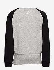 adidas Performance - YB LOGO CREW - sweatshirts - mgreyh/white - 1