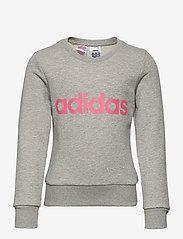 adidas Performance - YG E Lin Sweat - sweatshirts - mgreyh/sigpnk - 0