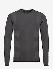 adidas Performance - Studio Techfit Seamless Long Sleeve T-Shirt - basic-strickmode - black/gresix - 1
