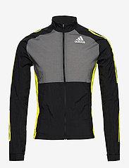 adidas Performance - Track Jacket - sportsjakker - black/grefiv/aciyel - 1