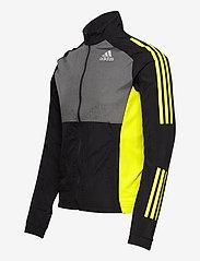 adidas Performance - Track Jacket - sportsjakker - black/grefiv/aciyel - 3
