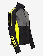 adidas Performance - Track Jacket - sportsjakker - black/grefiv/aciyel - 4