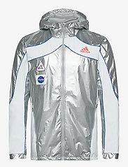 adidas Performance - Marathon Space Race Jacket - sportsjakker - msilve/white - 1