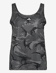 adidas Performance - Designed To Move AEROREADY Camouflage-Print Tank Top W - topjes - gresix/white - 1