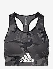 adidas Performance - AEROREADY Designed 2 Move Camouflage-Print Bra Top W - sort bras:high - black/white - 1
