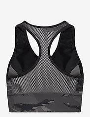 adidas Performance - AEROREADY Designed 2 Move Camouflage-Print Bra Top W - sort bras:high - black/white - 2