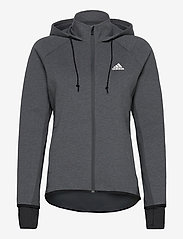 adidas Performance - Designed To Move AEROREADY Full-Zip Hoodie W - hoodies - dgreyh/white - 1