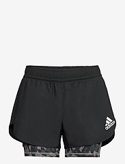 adidas Performance - Fast Two-in-One Primeblue Graphic Shorts W - träningsshorts - black/grefou - 1