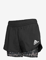 adidas Performance - Fast Two-in-One Primeblue Graphic Shorts W - träningsshorts - black/grefou - 3