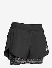 adidas Performance - Fast Two-in-One Primeblue Graphic Shorts W - träningsshorts - black/grefou - 4