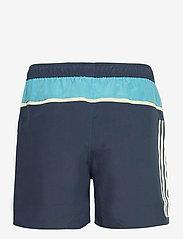 adidas Performance - Short-Length Colorblock 3-Stripes Swim Shorts - shorts - crenav/hazblu - 2