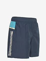 adidas Performance - Short-Length Colorblock 3-Stripes Swim Shorts - shorts - crenav/hazblu - 3