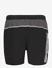 adidas Performance - Short-Length Colorblock 3-Stripes Swim Shorts - shorts - black/gresix - 2