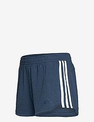 adidas Performance - Pacer 3-Stripes Knit Shorts W - training korte broek - crenav/white - 3