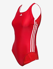adidas Performance - SH3.RO Classic 3-Stripes Swimsuit W - sportsbadetøy - vivred/white/vivred - 3