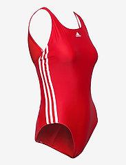 adidas Performance - SH3.RO Classic 3-Stripes Swimsuit W - sportsbadetøy - vivred/white/vivred - 4