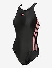 adidas Performance - SH3.RO Classic 3-Stripes Swimsuit W - sportsbadetøy - black/hazros - 3
