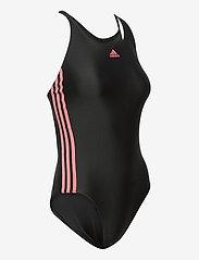 adidas Performance - SH3.RO Classic 3-Stripes Swimsuit W - sportsbadetøy - black/hazros - 4