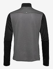 adidas Performance - Own The Run Running 1/2 Zip Sweatshirt - podstawowe bluzy - grefiv/black/aciyel - 1
