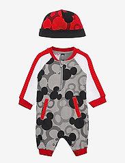 adidas Performance - Disney Mickey Mouse Onesie - langärmelig - mgsogr/black/white/vi - 0