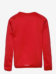 adidas Performance - Designed To Move Big Logo Sweatshirt - sweatshirts - vivred/white - 1