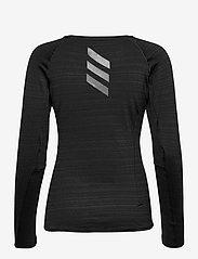 adidas Performance - Runner Long Sleeve T-Shirt W - langærmede toppe - black/refsil - 1