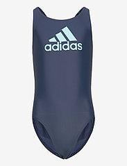 adidas Performance - Badge of Sport Swimsuit - swimsuits - crenav/hazsky - 0