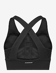 adidas Performance - Designed To Move AEROREADY Bra Top W - urheiluliivit: medium tuki - black/white - 2