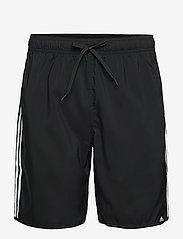 adidas Performance - Classic-Length 3-Stripes Swim Shorts - shorts - black/white - 0