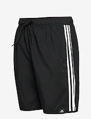 adidas Performance - Classic-Length 3-Stripes Swim Shorts - shorts - black/white - 2