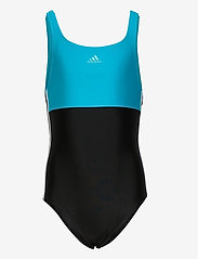 adidas Performance - Colorblock 3-Stripes Swimsuit - swimsuits - black/sigcya/white - 0