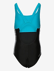 adidas Performance - Colorblock 3-Stripes Swimsuit - swimsuits - black/sigcya/white - 1