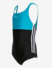 adidas Performance - Colorblock 3-Stripes Swimsuit - swimsuits - black/sigcya/white - 2