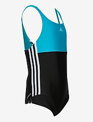 adidas Performance - Colorblock 3-Stripes Swimsuit - swimsuits - black/sigcya/white - 3