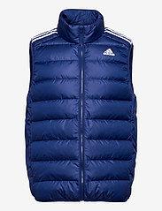 adidas Performance - Essentials Light Down Hooded Parka - sportjackor - vicblu - 1