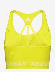 adidas Performance - Training Aeroknit Bra W - sport bras: low - aciyel - 2