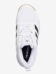 adidas Performance - Ligra 7 Indoor - indendørs sportssko - ftwwht/cblack/ftwwht - 3