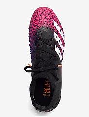 adidas Performance - PREDATOR FREAK .2 FG - fotballsko - cblack/ftwwht/shopnk - 3