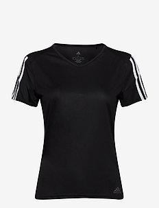 RUN IT TEE 3S W - t-shirty - black/white