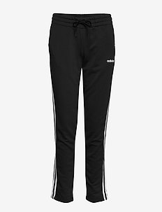 Essentials 3-Stripes Open Hem Pants W - treenihousut - black/white