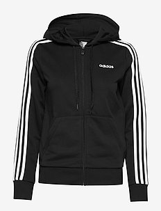 Essentials 3-Stripes Hoodie W - hupparit - black/white