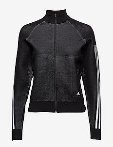 W Id Knit Trtop - BLACK/WHITE