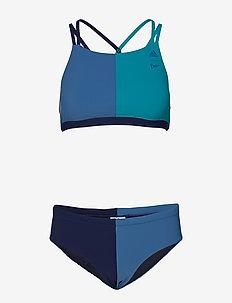 BW PARLEYH BIK - bikinisetit - eqtgrn/corblu