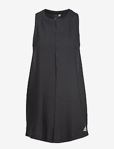 W Id Long Tank - BLACK