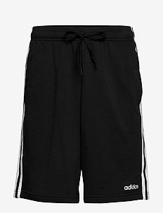 Essentials 3-Stripes French Terry Shorts - casual shorts - black