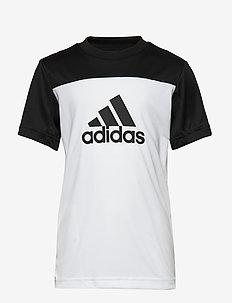 YB TR EQ TEE - short-sleeved - white/black