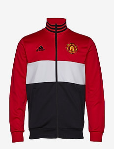 MUFC 3S TRK TOP - REARED/WHITE/BLACK