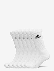 Cushioned Crew Socks 6 Pairs - tavalliset sukat - white/white/white/whi